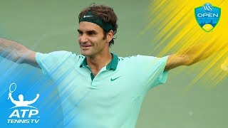 """Catch your breath after this """"hang-time"""" smash from Federer...Watch official ATP tennis streams all year round:..."""