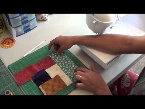 patchwork - come realizzare un blocco intrecciato