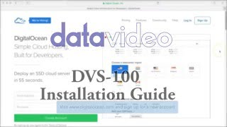 How to Set Up DVS-100 software on Digital Ocean