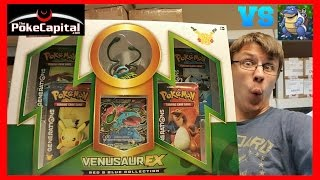 Pokemon Cards Venusaur EX Red & Blue Collection Box Opening Battle vs Papa Blastoise by ThePokeCapital