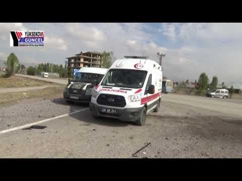 Yüksekova Trafik Kazası: 1 Ağır,3 Kişi Yaralandı