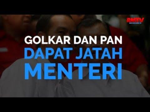 Golkar dan PAN Dapat Jatah Menteri