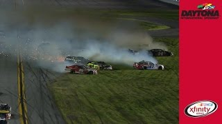 Sadler spins, causing multi-car crash