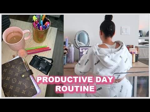 A PRODUCTIVE DAY ROUTINE & HOW I PLAN MY WEEK