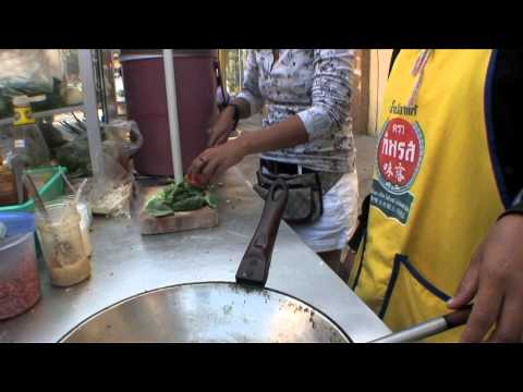 Simple Vegetable Thai Fried Rice (Khao Phat Pak) Cooked By Street Vendor