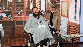 Extended: Ellen Shaves Off Super Bowl MVP Julian Edelman's Beard for Charity