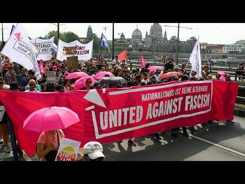 Διαδήλωση κατά της ακροδεξίας στη Δρέσδη