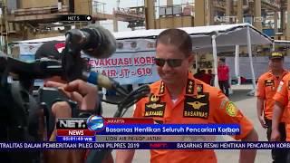 Video Basarnas Resmi Hentikan Pencarian Korban Lion Air JT 610 Sabtu Sore   NET5 MP3, 3GP, MP4, WEBM, AVI, FLV November 2018