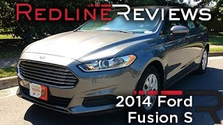 2014 Ford Fusion S Review, Walkaround, Exhaust,&Test Drive