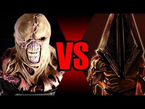 Nerd - Uma luta até a morte entre os 2 maiores monstros de Resident Evil e Silent Hill. Tags: Silent Hill - Resident Evil - Nemesis - Pyramid Head - Batalha Mortal - Quem vence - Terror Se inscreva...