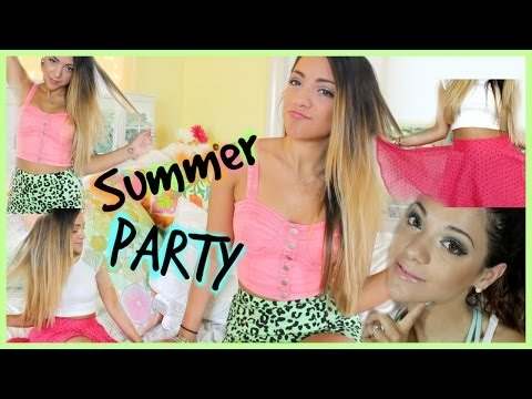 Summer Party Hair and Makeup Ideas With Niki And Gabi Beauty!