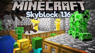 Pathfinding Hostile Mob Farm! • Minecraft 1.16 Skyblock (Tutorial Let's Play) [Part 3]