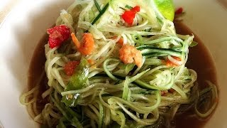 Spicy Asian Cucumber Salad ! - YouTube