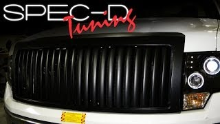 SPECDTUNING INSTALLATION VIDEO: 2009 - 2012 FORD F150 FRONT GRILLE