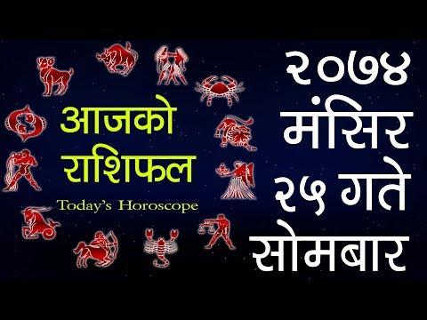 (Aajako Rashifal 2074 Mangsir 25, Today's Horoscope...12 min.)