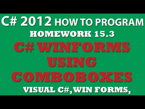Visual C# 15.3: Using ComboBoxes (Windows Forms, Events)