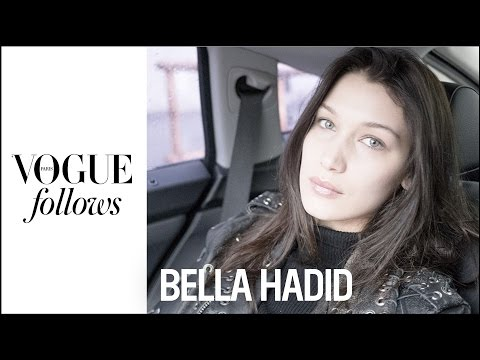 Bella Hadid : 24h of Fashion Week with Bella Hadid at Miu Miu | #VogueFollows | VOGUEPARIS