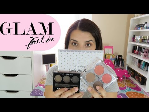 Probando productos Glam Factor | Paleta Dusty Rose Heart
