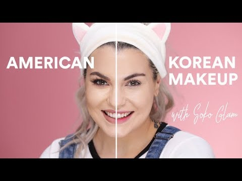American vs. Korean Makeup w/ Soko Glam