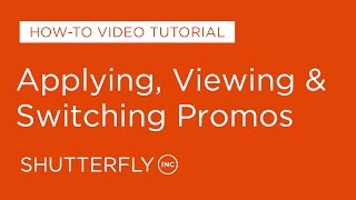How to Apply, View, Change Promotions on Shutterfly