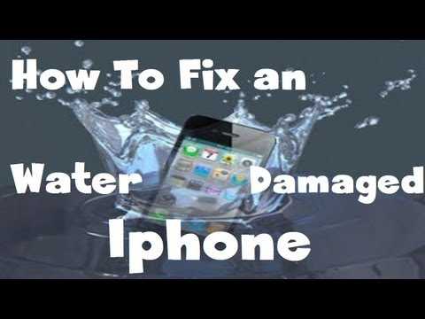 100% Way to Fix a Water Damaged iPhone 4s 5 or ANY DEVICE [HD]