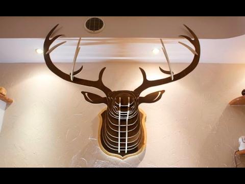 Deer head wood diy / TESTA DI CERVO IN LEGNO FAI DA TE