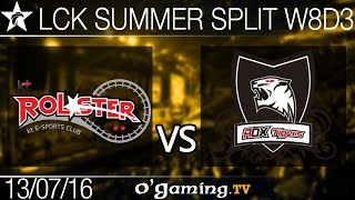 KT Rolster vs Rox Tigers - LCK Summer Split 2016 - W8D3