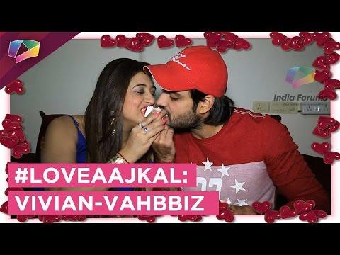 #LoveAajKal : Vivian Dsena and Vahbbiz Dorabjee fr