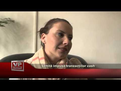Limită impusă tranzacțiilor cash