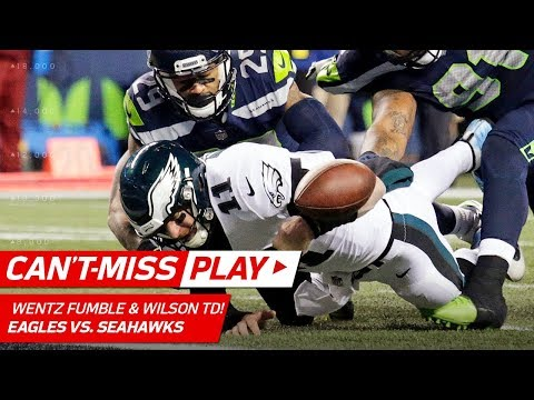 Video: Russell Wilson's Clutch Pass to Baldwin & TD Toss After Wentz's Fumble | Can't-Miss Play | NFL Wk 13