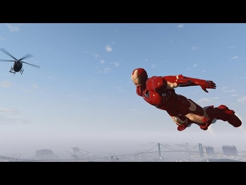 Iron Man Goes on a Rampage in Grand Theft Auto V