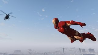 GRAND THEFT AUTO V Mod Lets You Wreck Things as IRON MAN