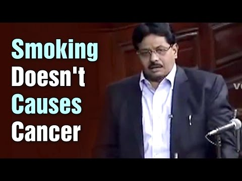 No Indian study shows tobacco causes Cancer says BJP MP Dilip Gangdhi  Teenmaar News 01042015