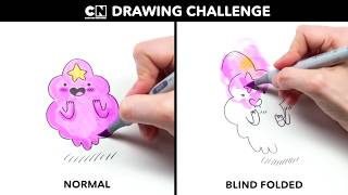 Video Drawing LSP BLIND FOLDED | Adventure Time | Cartoon Network MP3, 3GP, MP4, WEBM, AVI, FLV Juni 2018