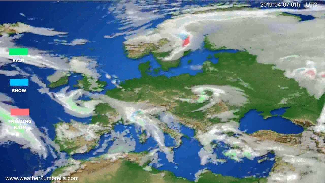 Precipitation forecast Europe // modelrun: 12h UTC 2019-04-05
