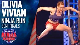 Ninja run: Olivia Vivian (Semi final) | Australian Ninja Warrior 2018