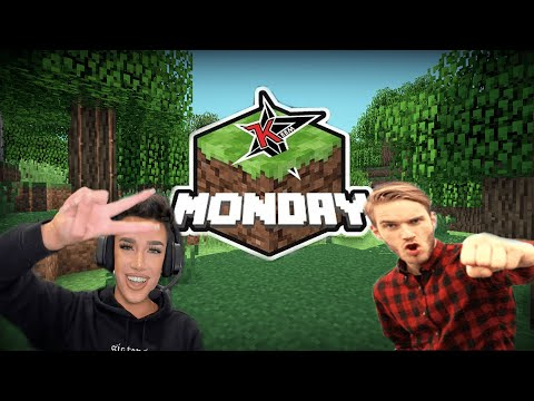[Highlights Pt. 1] Pewdiepie Plays Minecraft W/ James Charles On DLive