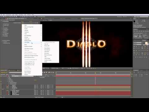 Creating Diablo 3 Title Animation in After Effects | CGMOTIONBOX