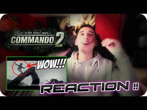 THE REAL ACTION MAN!!| VIDYUT JAMMWAL| Commando 2 official trailer REACTION!!!