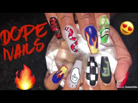Acrylic Nails Fill In  Dope Nails