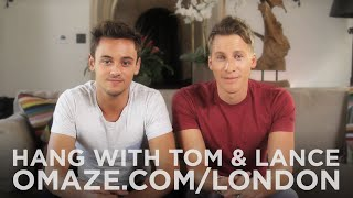 Join Tom Daley and Lance Black for a double date in London