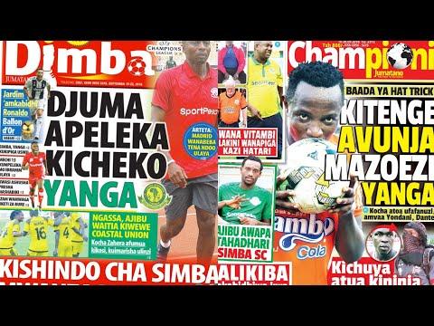 MICHEZO Magazetini Jumatano 19/9/2018:Kishindo Cha Simba Mwanza Usipime.