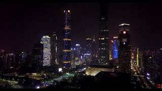 GuangZhou 广州 night drone flight
