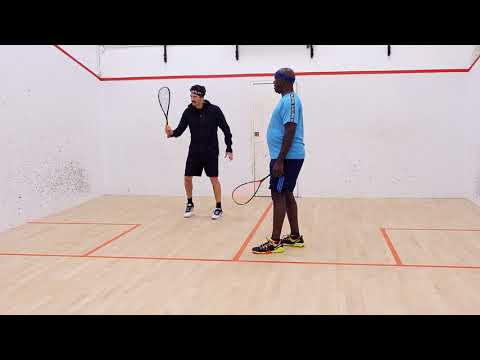 Squash tips   Forehand technique session with Jethro Binns   Left arm and shoulder