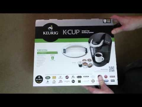 Unboxing Keurig K40 Elite K-Cup Coffee Maker Single Cup Brewing System
