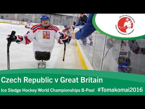 Czech Republic v Great Britain | Prelim | 2016 Ice Sledge Hockey World Champs B-Pool, Tomakomai