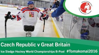 Tomakomai Japan  city photo : Czech Republic v Great Britain | Prelim | 2016 Ice Sledge Hockey World Champs B-Pool, Tomakomai