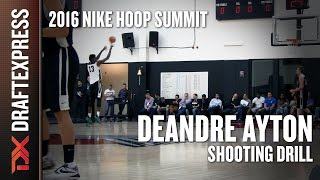 DeAndre Ayton Shooting 10 Threes - DraftExpress - 2016 Nike Hoop Summit