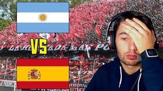Video HINCHADAS ARGENTINA (INTERIOR) vs HINCHADAS ESPAÑA | REACCION | ElShowDeJota MP3, 3GP, MP4, WEBM, AVI, FLV Agustus 2018