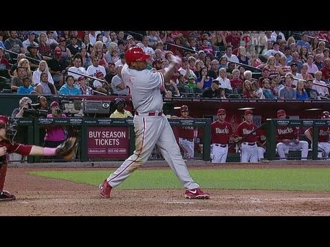 Video: PHI@ARI: Young doubles home the Phillies' first run